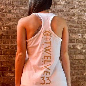 Ladies Racerback Tank (White)