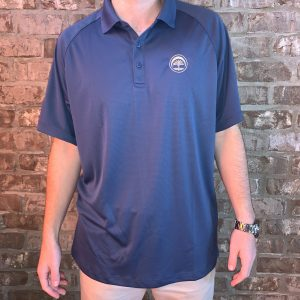 Men's Embroidered Polo (Blue)