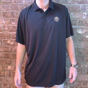 Men's Embroidered Polo (Black)