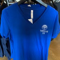 Ladies Support Local V-Neck (Blue)