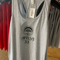 Ladies Racerback Tank (Grey)